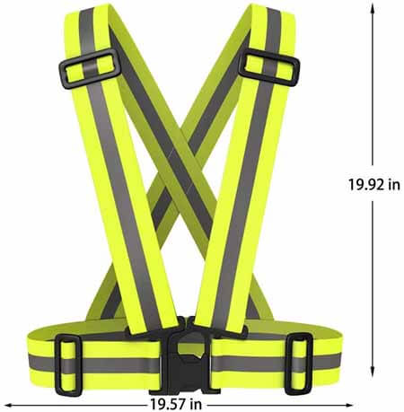 Reflective Night Running Vest with Adjustable Strap