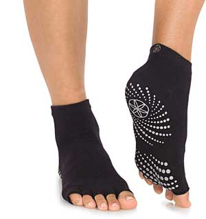 Gaiam Toeless Yoga Sock
